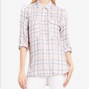 Tura by Vince Camuto plaid top size M